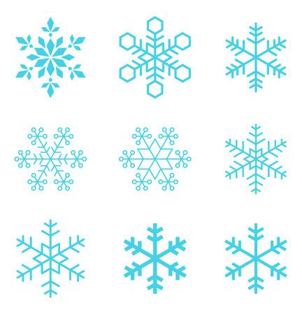 Snowflakes, snow Crystal, icon material set