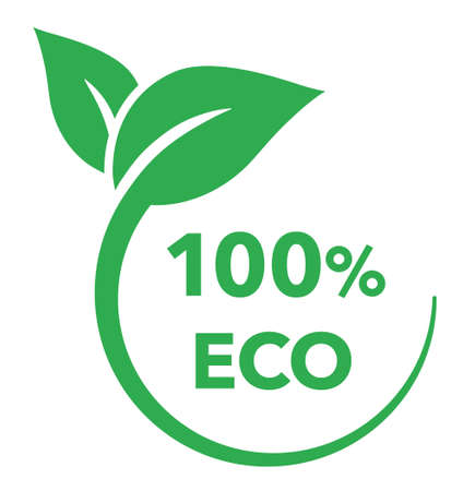 Leaf and ecology vector mark