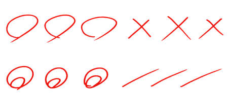 Scoring Sign of Handwritten Correct and Incorrect answer