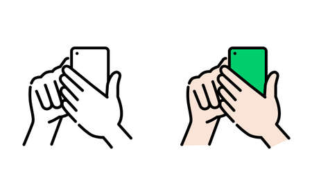 Hand-operated smartphone icon