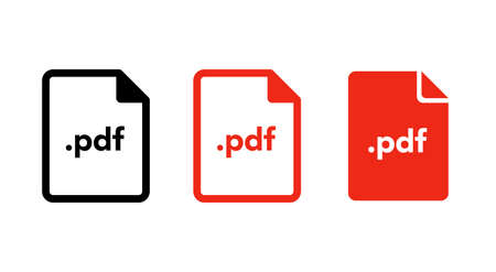 Document file icon variation set