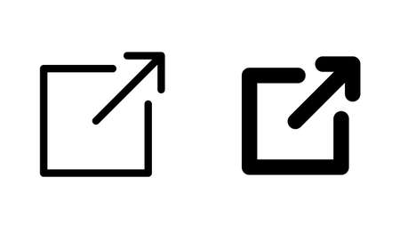 Arrow icon (button to open a new page on the web or a link page)