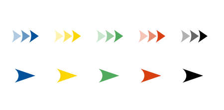 Colorful vector arrow icon set