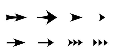 Various vector arrow icon set 일러스트