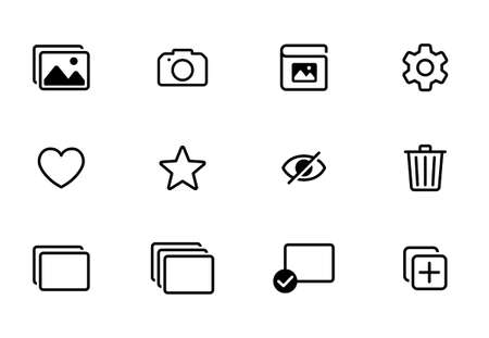 Photo and shooting app icon set