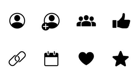 Web and smartphone app icon set