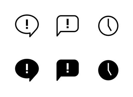 Web and app balloon icon set
