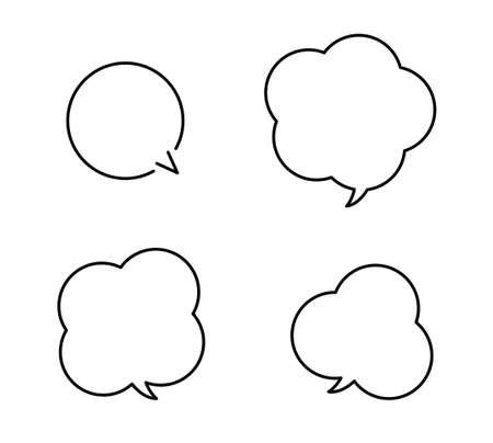 Cloud-shaped Speech balloon design set