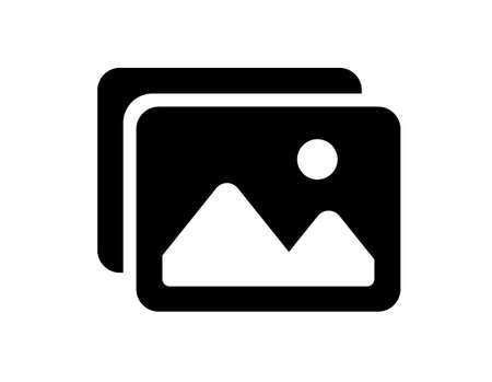 picture image vector icon (Monochrome)