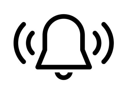 Ringing bell sound vector icon 일러스트