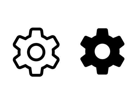 Icon illustration with two gear
