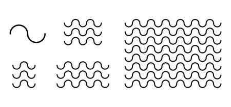 Curved line wave pattern set