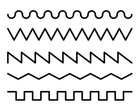 Wave line design variation set