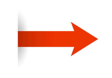Red arrow icon to move forward 일러스트