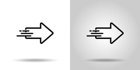 Arrow Monochrome vector icon set 일러스트