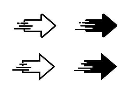 Moving image arrow icon set