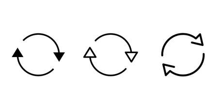 Rotating 2 arrows vector icon Material