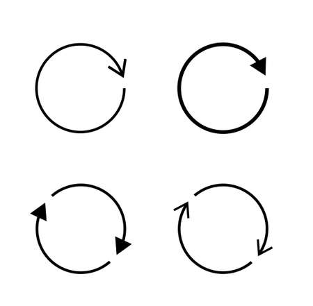 Rotating arrow vector icon Material