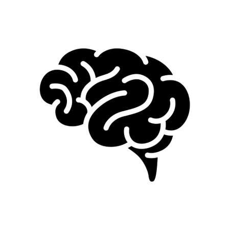 Human brain Monochrome vector icon