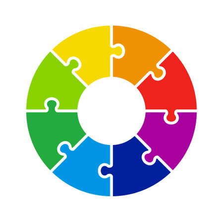 Circular chart with 8 puzzle