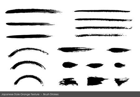 Japanese style brush Grange texture set