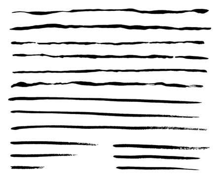 Japanese style line of brush with Grange texture set