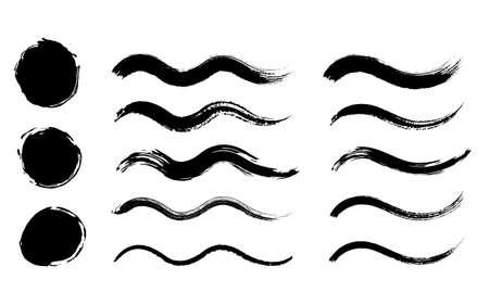 Japanese style Waveform brush with Grange texture set