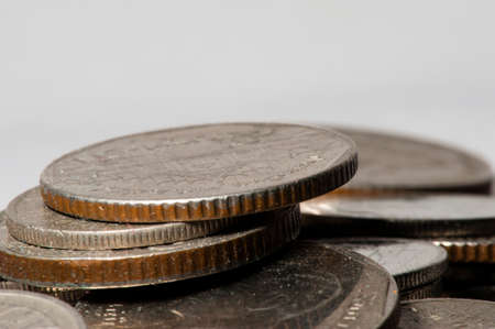 eisenhower: Close-up of coins with isolate background