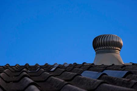 ventilate: A Ventilator against blue sky Stock Photo