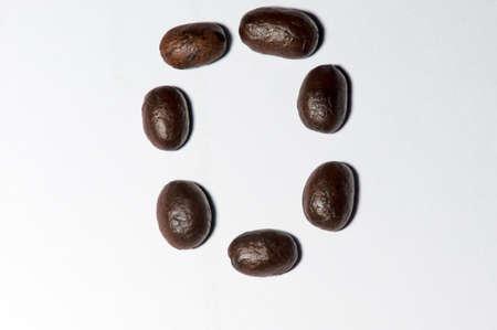 number zero: Coffee beans set is  symbols number zero