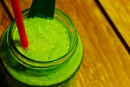 masticate: Lemongrass drink on table