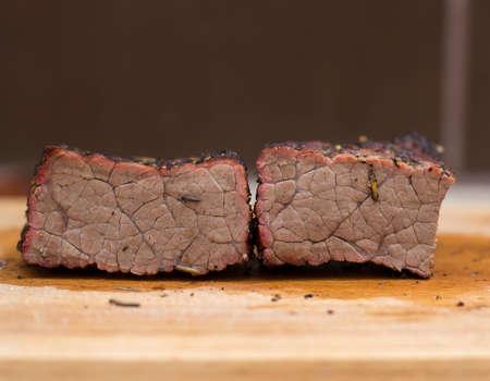 quemado: carne de vaca cocidas