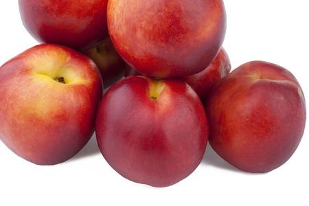 nectarines isolated on white background Stock Photo