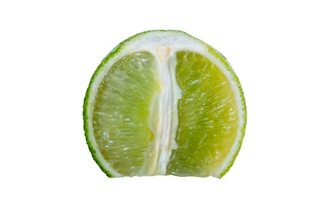 Lime isolated on white background studio shot photo