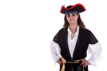 Pirate isolated on white background studio shot 写真素材