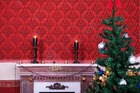 Sensasional vintage Christmas interior studio shot photo