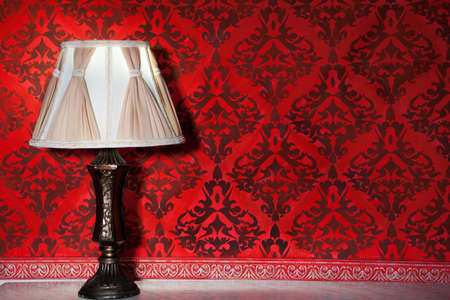 Vintage lamp in old interior from rococo period studio shooting