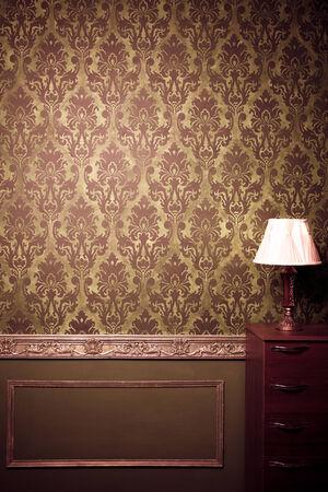 Vintage room interior toned image studio shooting 写真素材