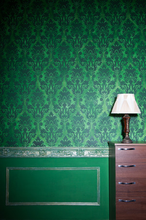 Vintage room interior toned image studio shooting Stock Photo