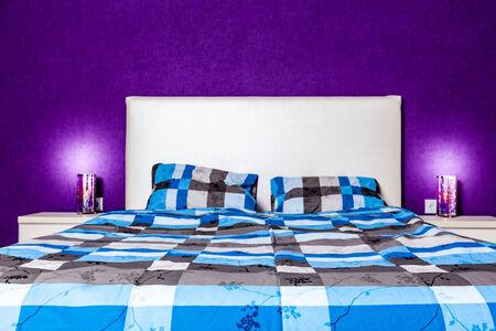 home lighting: Modern bedroom interior design. Professional lighting. Home sweet home. Comfy