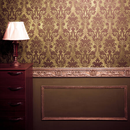 Vintage room interior toned image studio shooting 写真素材