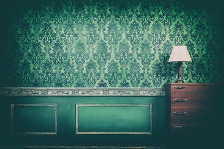 Vintage Zimmer Interieur in alten Typ Kamera Tönung. Rokoko-Stil. Reichhaltiges Interieur. Altes Zuhause. Stil und Eleganz