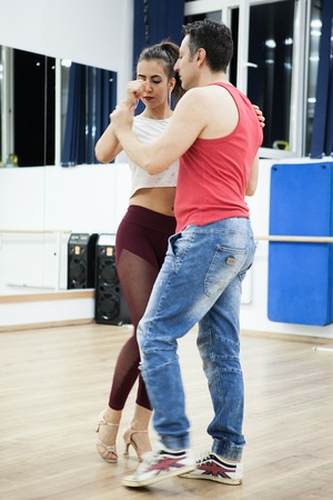 Dancers on kizomba rhythm making the most out of it at the rehearsal Stock Photo