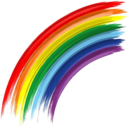 rainbow: arte abstrata do vetor do fundo do arco-�ris