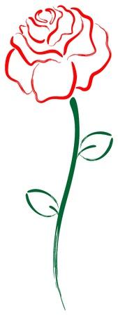 Art flower rose Çizim