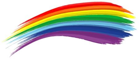 アート虹抽象的なベクトルの背景ブラシ ストローク