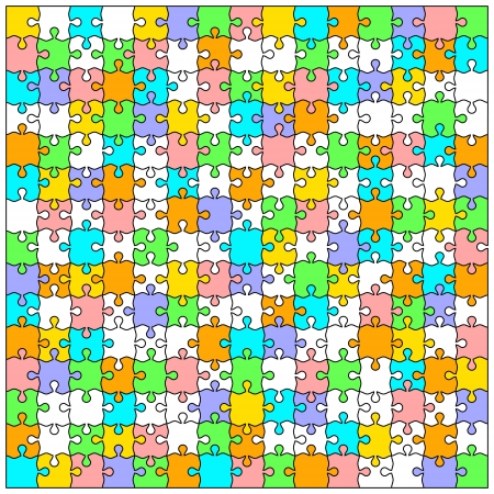 Blank transparent background puzzle jigsaw vector Stock Vector - 14810194