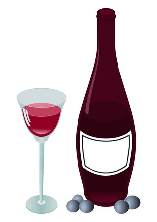 red wine pouring: Bottle and wine wine-glass