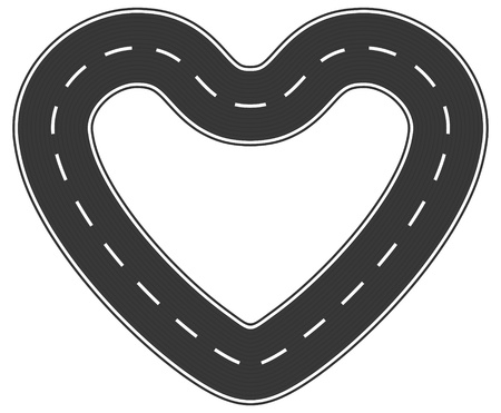 Infinite heart asphalt road of love Vector