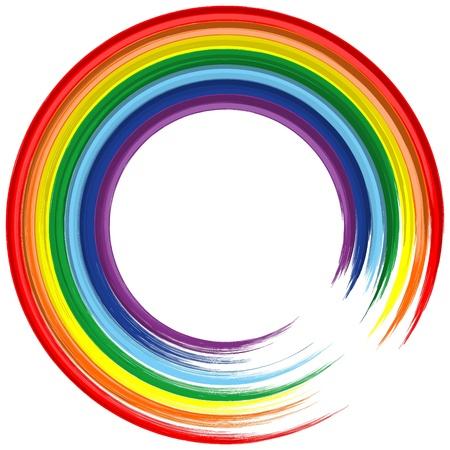 rainbow: Arte do arco-�ris quadro fundo abstrato do vetor 2
